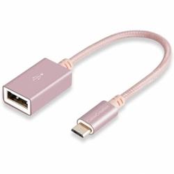 Adaptor OTG USB - Tip C (Roz-Auriu)