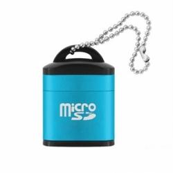 Cititor de carduri MicroSD - USB 2.0 (Albastru)