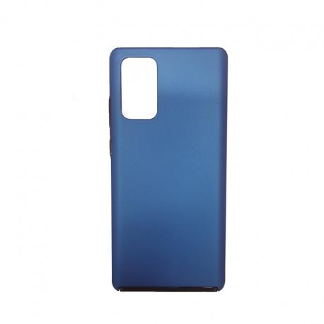 Husa HUAWEI Y6P - 360 Grade Colored (Fata Silicon/Spate Plastic) Albastru