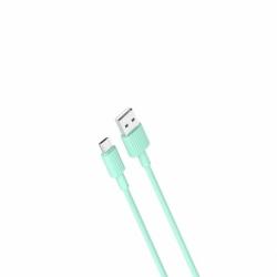 Cablu Date & Incarcare MicroUSB (Verde) 1m XO NB156