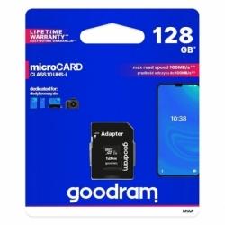 Card MicroSD 128GB + Adaptor (Clasa 10) GoodRam