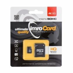 Card MicroSD 4GB + Adaptor Clasa 4 IMRO