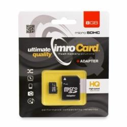 Card MicroSD 8GB + Adaptor Clasa 4 IMRO