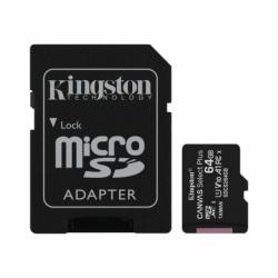 Card MicroSD 64GB + Adaptor Clasa 10 Kingston