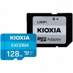 Card MicroSD 128GB + Adaptor Clasa 10 Kioxia