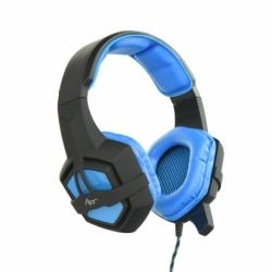 Casti de gaming cu microfon, stereo cu Mufa Jack 3.5mm (Negru/Albastru) ART