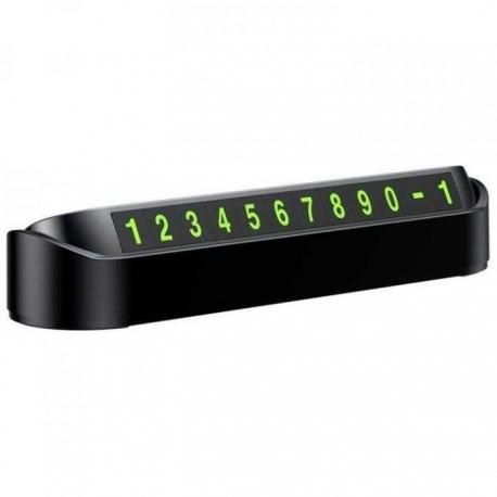 Suport Numar Telefon Retractabil (Negru)