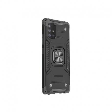 Husa pentru SAMSUNG Galaxy A51 - Ring Armor (Negru)