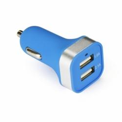Incarcator Auto 3.1A cu 2 Porturi USB (Albastru)
